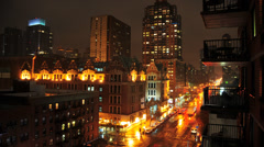 HD -NYC View from Balcony - Time Lapse Stock Footage