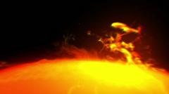 Solar eruption Stock Footage