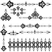 Oriental ottoman design three version Stock Illustration