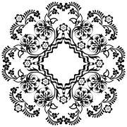 black oriental ottoman design twelve - stock illustration