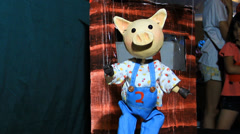 Pig String puppet Stock Footage