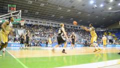 Basketball championship F4 Final in Kiev, Ukraine. Stock Footage