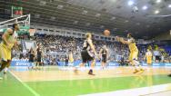 Stock Video Footage of Basketball championship F4 Final in Kiev, Ukraine.