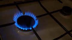 Gas Cooker Turn On And Light Up Stock Footage