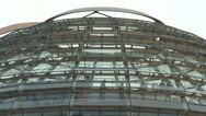 Stock Video Footage of 206 Berlin, Reichstag building, people in glass dome