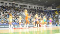 Basketball championship F4 Final in Kiev, Ukraine. - stock footage