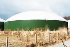 Biogas plant for energy - stock photo