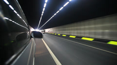 Travel in the tunnel Stock Footage