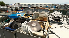 Scrap metal area Stock Footage