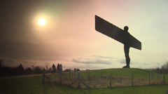Angel of The North - stock footage