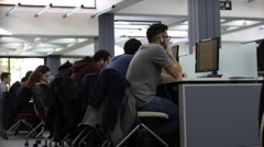 Students workstations Stock Footage