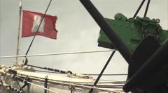 Tallship in Landungsbrücken, Hamburg Stock Footage