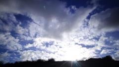 4K Timelapse Clouds 19 Blue Sky Stock Footage