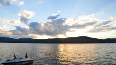 Lake George Sunset Adirondacks Stock Footage
