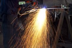 plasma cuting - stock photo