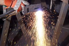 Plasma cutting Stock Photos