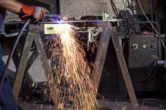 Steel factory Stock Photos