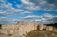Stock Photo of fortress. a medieval fortress in bulgaria - madara