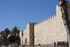 Jersalem outer wall Stock Photos