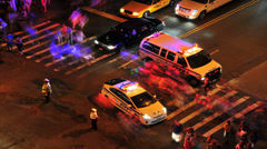 NYC Street, NYPD 57th St and 10th Ave Stock Footage