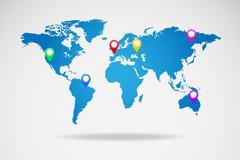Stock Illustration of world map vector illustration