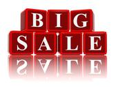 Stock Illustration of big sale in 3d red cubes