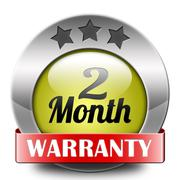Two month warranty Stock Illustration