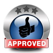 approved icon - stock illustration