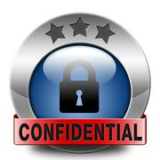 confidential - stock illustration