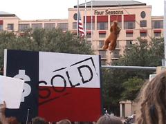 Anti-Globalization Protest in Austin, Texas Stock Footage