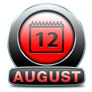 august - stock illustration
