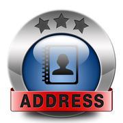 address - stock illustration