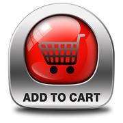 Add to cart Stock Illustration