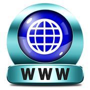www world wide internet icon - stock illustration