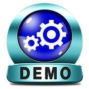 demo icon - stock illustration