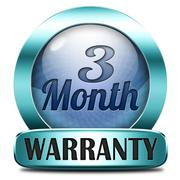Three month warranty Stock Illustration