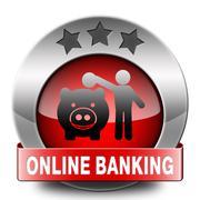 onine banking - stock illustration