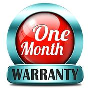 Stock Illustration of one month warranty