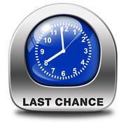 last chance - stock illustration