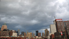 HD - NYC Storm Clouds over Midtown West - Time Lapse Stock Footage