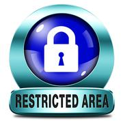 restricted area - stock illustration