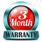 three month warranty - stock illustration
