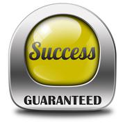 success guaranteed - stock illustration