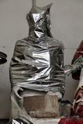 draped statue - stock photo