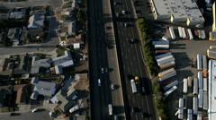 Aerial road traffic highway San Francisco, USA - stock footage