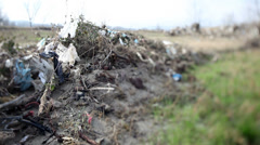 Rubbish carried by flood. Stock Footage
