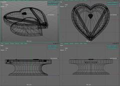 heart type billiard - 3D model