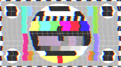 Test pattern TV, bad signal (25 fps) Stock Footage