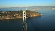 Stock Video Footage of Aerial Bay Bridge Treasure Island, San Francisco, USA