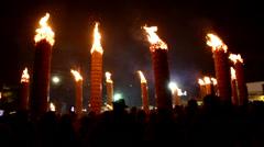 """Fara Filiorum Petri """"Farchie"""" celebration in Abruzzo. Stock Footage"""